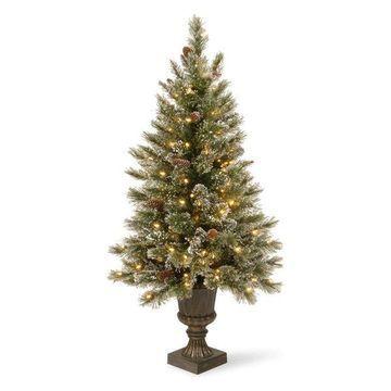 National Tree Company Christmas Decorations 5' Glittery Bristle Pine Entrance