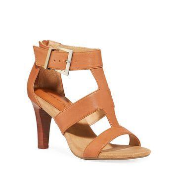 Varsity Leather Cutout Sandals