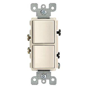 Leviton 15 Amp Light Almond Decorative Single-Pole AC Combination Sw