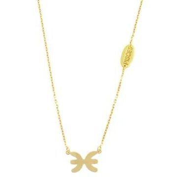 Fremada 10k Yellow Gold Zodiac Sign Necklace (18 inch)