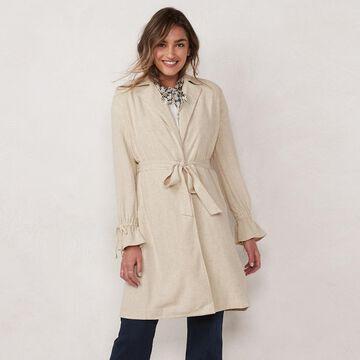 Women's LC Lauren Conrad Ruffle Back Trench Coat