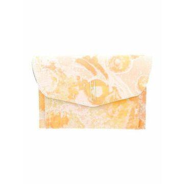Floral Clutch Bag Orange