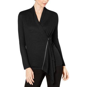 Alfani Womens Knit Asymmetric Sweater