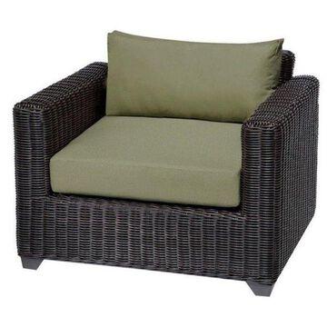 TK Classics Venice Outdoor Wicker Club Chair, Cilantro