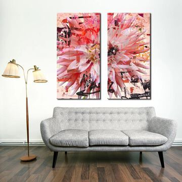 Ready2HangArt 'Painted Petals LXXVII' 2 Piece Canvas Art Set