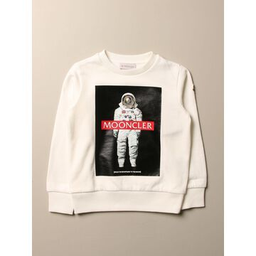 Moncler Sweatshirt In Cotton With Astronaut Print