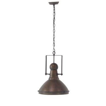 Decmode Rustic Iron Brass Pendant Lamp, Brass