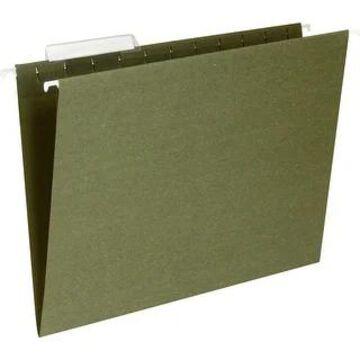 Business Source 1/3 Cut Standard Hanging File Folders - Standard Green - 8 1/2