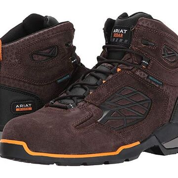 Ariat Rebar Flex 6 Waterproof Composite Toe (Chocolate Brown) Men's Lace-up Boots