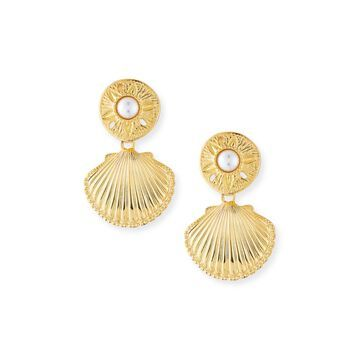 Sand Dollar & Scallop Clip-On Earrings