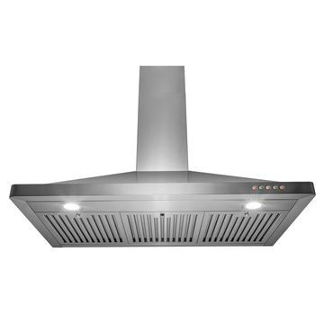 Golden Vantage 36 in Wall Mount Kitchen Range Hood 3 Speed Push Control