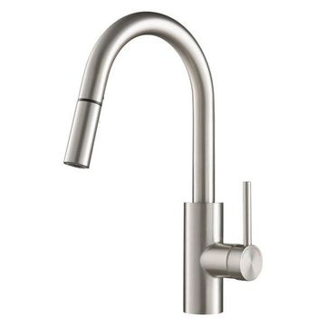 Kraus Spot Free Oletto Single Handle Pull Down Kitchen Faucet