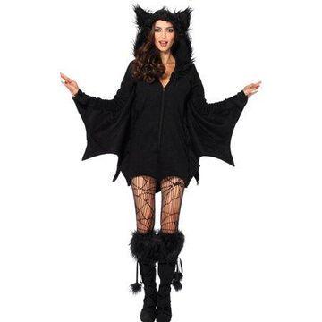 Leg Avenue Women's Plus Size Cozy Black Bat Halloween Costume, 3X-4X, Black