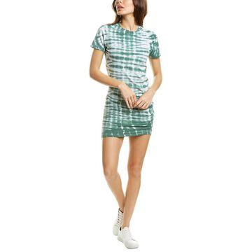 Monrow Alligator Tie-Dye Shirred Mini Dress