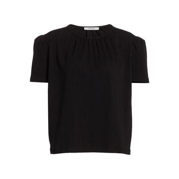 Derek Lam 10 Crosby Kinzie Puff-Sleeve Knit Top