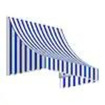 Awntech Nantucket 76.5-in Wide x 36-in Projection Striped Crescent Window/Door Fixed Awning