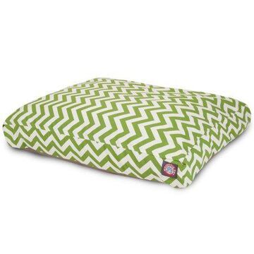 Majestic Pet Chevron Rectangle Dog Bed Treated Polyester Removable Cover Sage Medium 36