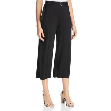 Three Dots Womens Cropped Belted Culottes