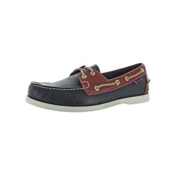 Sebago Mens Portland Spinnaker Boat Shoes Leather Slip-On