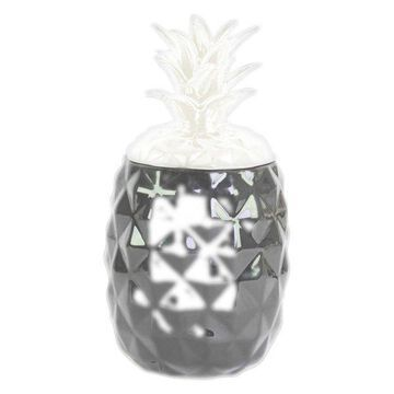 Ceramic Canister, Gloss Black, White
