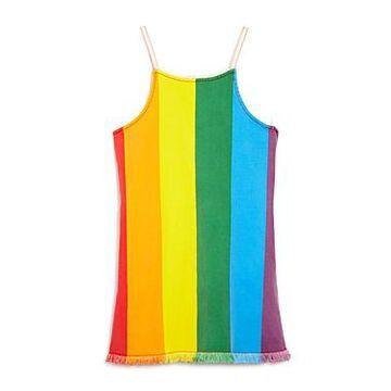 Stella McCartney Girls' Rainbow Stripe Denim Denim - Little Kid, Big Kid