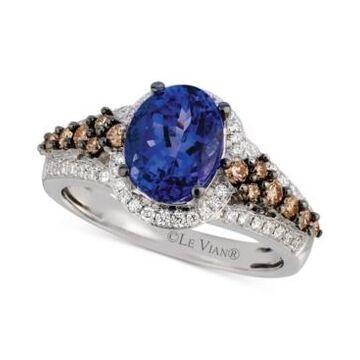 Le Vian Tanzanite (1-3/4 ct. t.w.) and Diamond (5/8 ct. t.w.) Ring in 14k White Gold