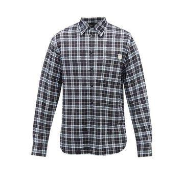 Marni - Checked Fil-coupe Cotton Shirt - Mens - Blue