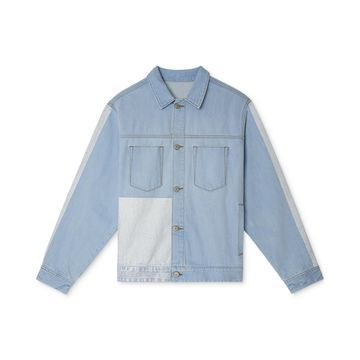 Men's Blocked Denim Jacket
