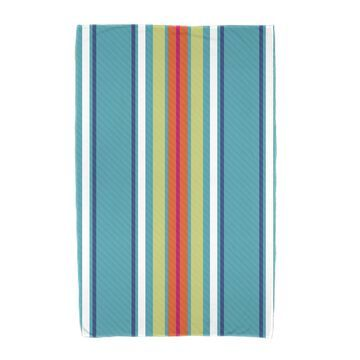 E by Design Multi-Stripe Stripe Print Beach Towel