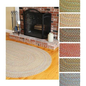 Cozy Cove Indoor/ Outdoor Braided Rug by Rhody Rug - 8' x 11' Oval