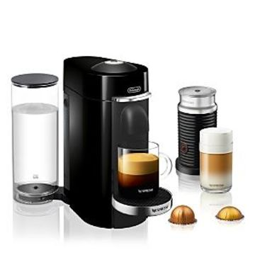 Nespresso VertuoPlus Deluxe by De'Longhi with Aeroccino Milk Frother, Classic Black