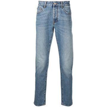 logo-print straight-leg jeans
