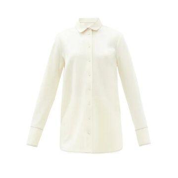 Jil Sander - Felted Wool-jersey Longline Shirt - Womens - Ivory