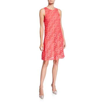 Floral Lace Trapeze Dress