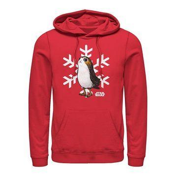 Fifth Sun Men's Sweatshirts and Hoodies RED - Star Wars Red Porg Snowflake Hoodie - Men