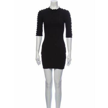 Crew Neck Mini Dress w/ Tags Black