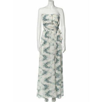 Silk Long Dress w/ Tags Blue