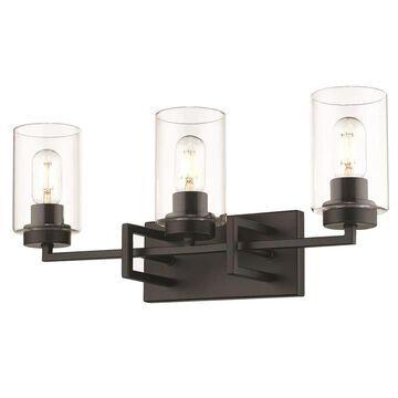 Golden Lighting Tribeca 3-Light Black Modern/Contemporary Vanity Light   6070-BA3 BLK-BLK