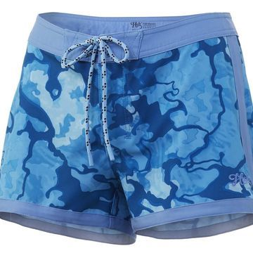 HUK Womens Tropic Size 2 North Drop Deck Shorts With Pocket