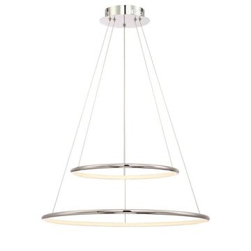 Eurofase Valley Polished Chrome Modern/Contemporary Tiered LED Pendant Light