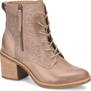 Sofft Womens Sondra Leather Round Toe Ankle Cowboy Boots