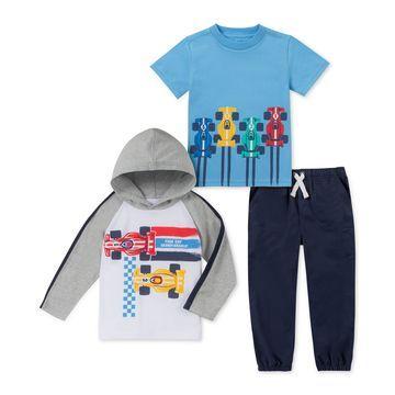 Baby Boys 3-Pc. Race Car T-Shirts & Jogger Pants Set