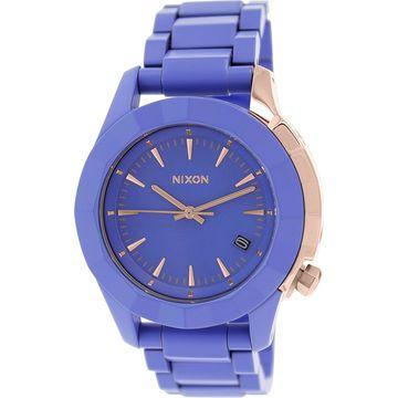 Nixon Women's Monarch A2881675 Purple Plastic Japanese Quartz Fashion Watch