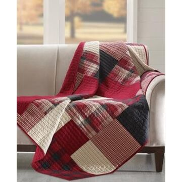 Woolrich Plaid Patchwork Quilted Throw
