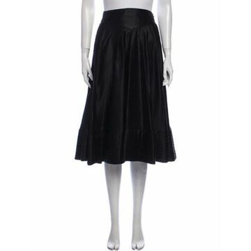 Vintage Knee-Length Skirt Black
