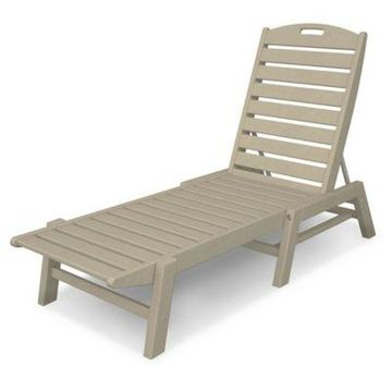 POLYWOOD Nautical Stackable Chaise in Sand