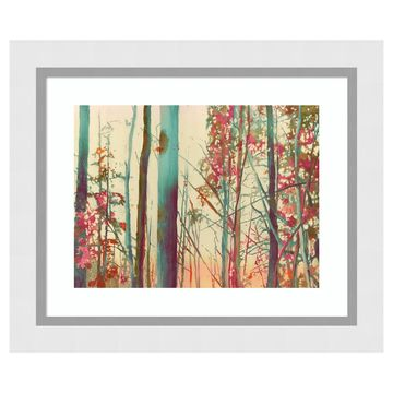 Amanti Art Pink Arborescences Framed Wall Art