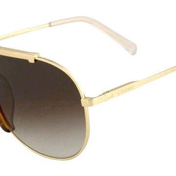 Celine CL40026I 33K Womenas Sunglasses Gold Size 62