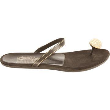 Pedro Garcia Black Leather Sandals