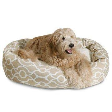 Majestic Pet Athens Sherpa Bagel Dog Bed